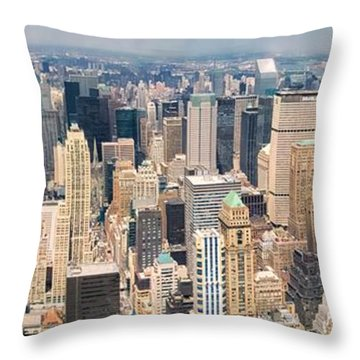 A Cloudy Day In New York City   Throw Pillow
