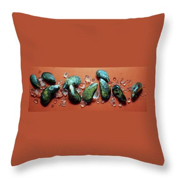 A Cluster Of Mussels Throw Pillow