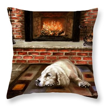 A Cold Winter's Night Throw Pillow