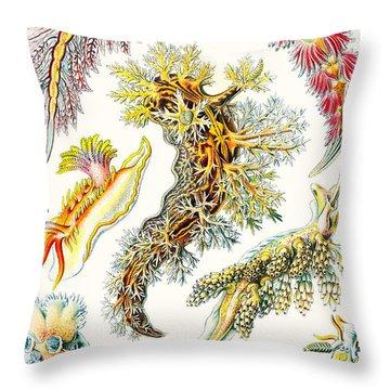 A Collection Of Nudibranchia Throw Pillow