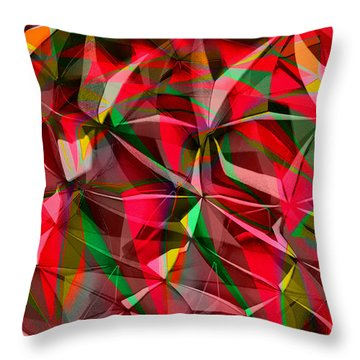 Colorful Shapes Blend Throw Pillow by Kellice Swaggerty