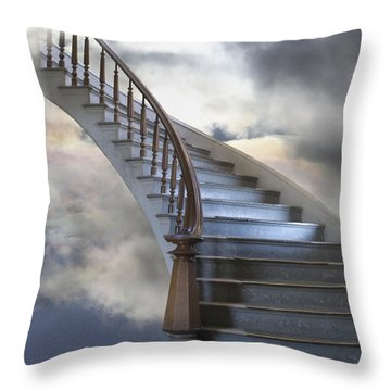 A Composite Entitled Staircase Throw Pillow by Robert Bartow