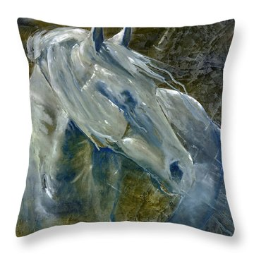Throw Pillow featuring the painting A Cool Morning Breeze by Jani Freimann