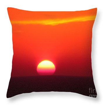 A Cooling Dive Throw Pillow by Mariarosa Rockefeller