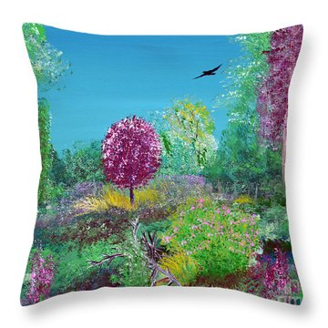 A Corner Of Heaven In Rural Indiana Throw Pillow by Alys Caviness-Gober