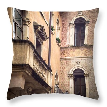 A Corner Of Vicenza Italy Throw Pillow
