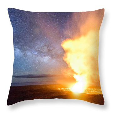 A Cosmic Fire Throw Pillow