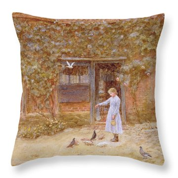 A Cottage At Shere Throw Pillow