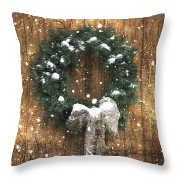 A Country Christmas Throw Pillow