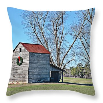 Throw Pillow featuring the photograph A Country Christmas by Linda Brown