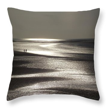 A Couple On A Deserted Beach Throw Pillow