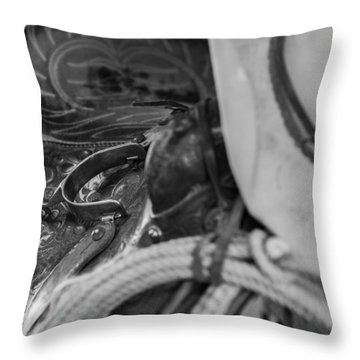 A Cowboy's Gear Throw Pillow by Amber Kresge