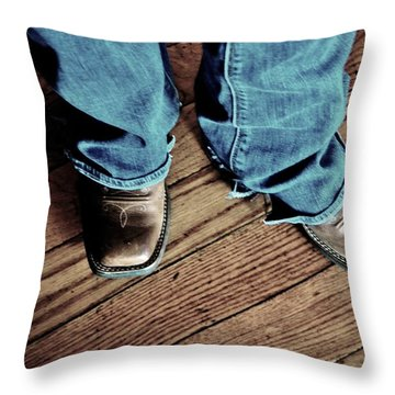 A Cowgirl Throw Pillow