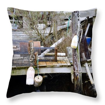 A Crab Fishermans Still Life Throw Pillow