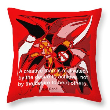 A Creative Man Throw Pillow by Ian  MacDonald