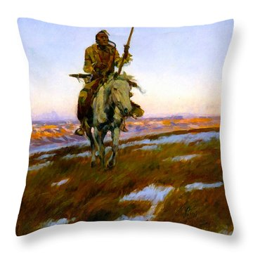 A Cree Indian Throw Pillow
