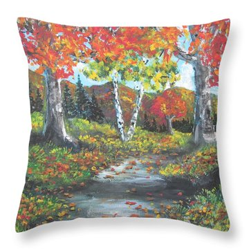 A Crisp Afternoon Throw Pillow