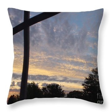 Throw Pillow featuring the photograph A Cross The Sky by Lyric Lucas