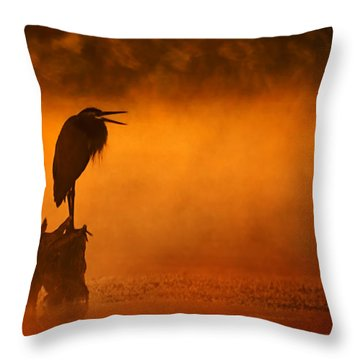 A Cry In The Mist Throw Pillow