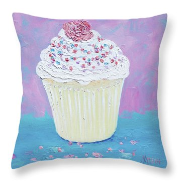 A Cupcake For Your Morning Tea Throw Pillow