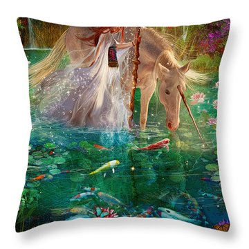 A Curious Introduction Throw Pillow by Aimee Stewart