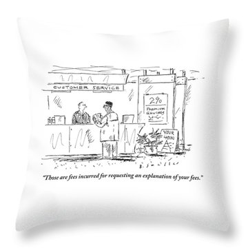 A Customer Service Representative Speaks To A Man Throw Pillow
