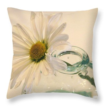 A Daisy A Day Throw Pillow