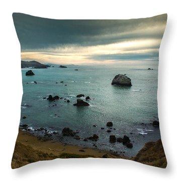 A Dark Day At Sea Throw Pillow