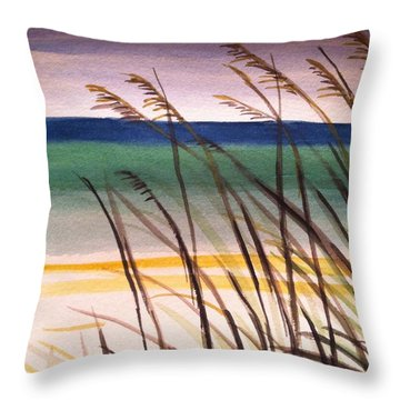 A Day At The Beach 2 Throw Pillow