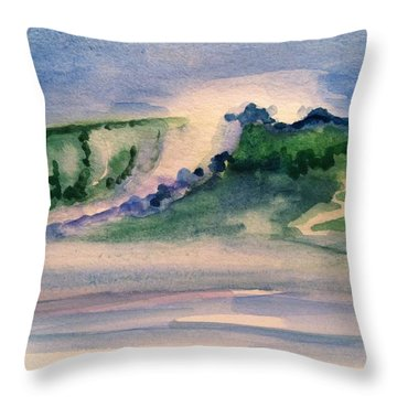 A Day At The Beach 3 Throw Pillow