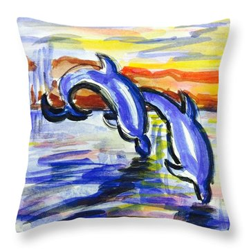 A Day At The Beach 4 Throw Pillow