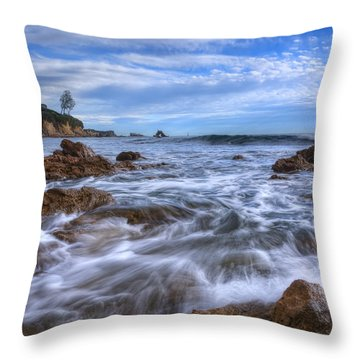 Throw Pillow featuring the photograph Low Tide In Corona Del Mar by Eddie Yerkish
