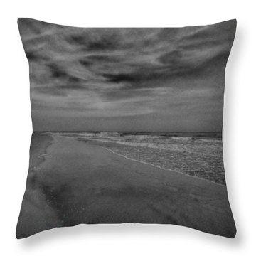 A Day At The Beach Throw Pillow by J Riley Johnson