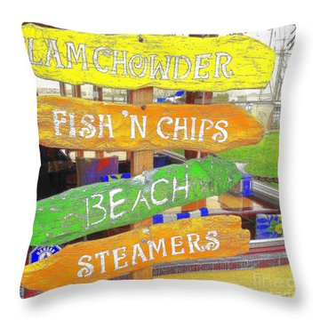 A Day At The Beach Throw Pillow by Kris Hiemstra