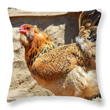 A Day At The Farm Throw Pillow by Cindy Manero