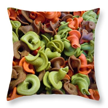 A Day At The Market #21 Throw Pillow by Robert ONeil