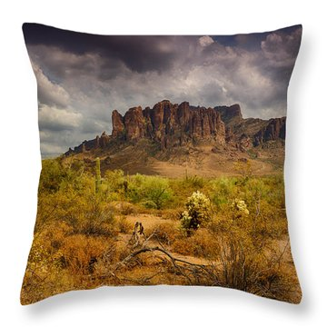 A Day At The Superstitions  Throw Pillow