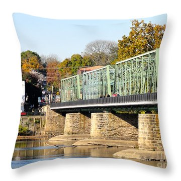 A Day For Tourists Throw Pillow