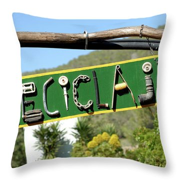 A Day In La Casita Verde Throw Pillow