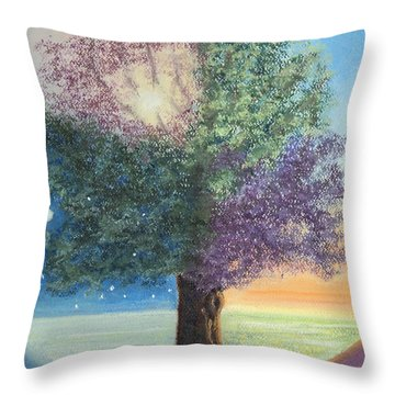 A Day In The Tree Of Life Throw Pillow