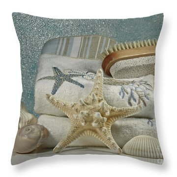 A Day Of Pampering At The Spa Throw Pillow by Inspired Nature Photography Fine Art Photography