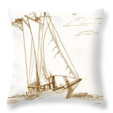 A Day On The Bay Throw Pillow by Nancy Patterson