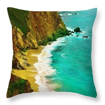 A Day On The Ocean Throw Pillow