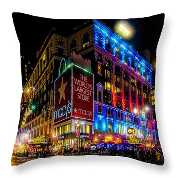 A December Evening At Macy's  Throw Pillow