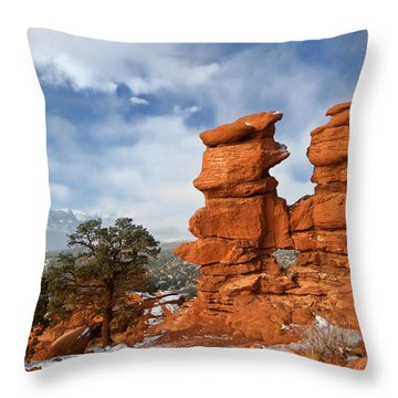 A December Morning Throw Pillow