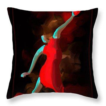 A Dedication - Follow Your Heart Throw Pillow by Steven Lebron Langston
