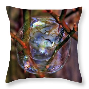 A Delicate Balance Throw Pillow by Suzanne Stout