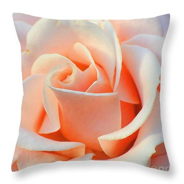 A Delicate Rose Throw Pillow by Cindy Manero