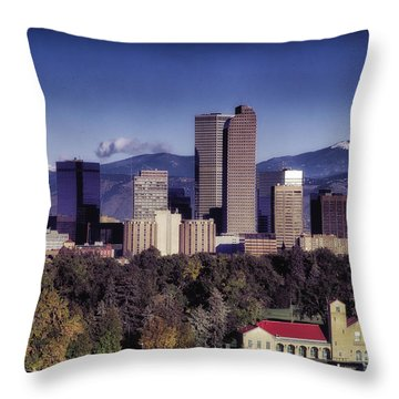 A Denver Autumn Throw Pillow