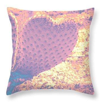 Throw Pillow featuring the photograph A Desert Heart II by Carolina Liechtenstein